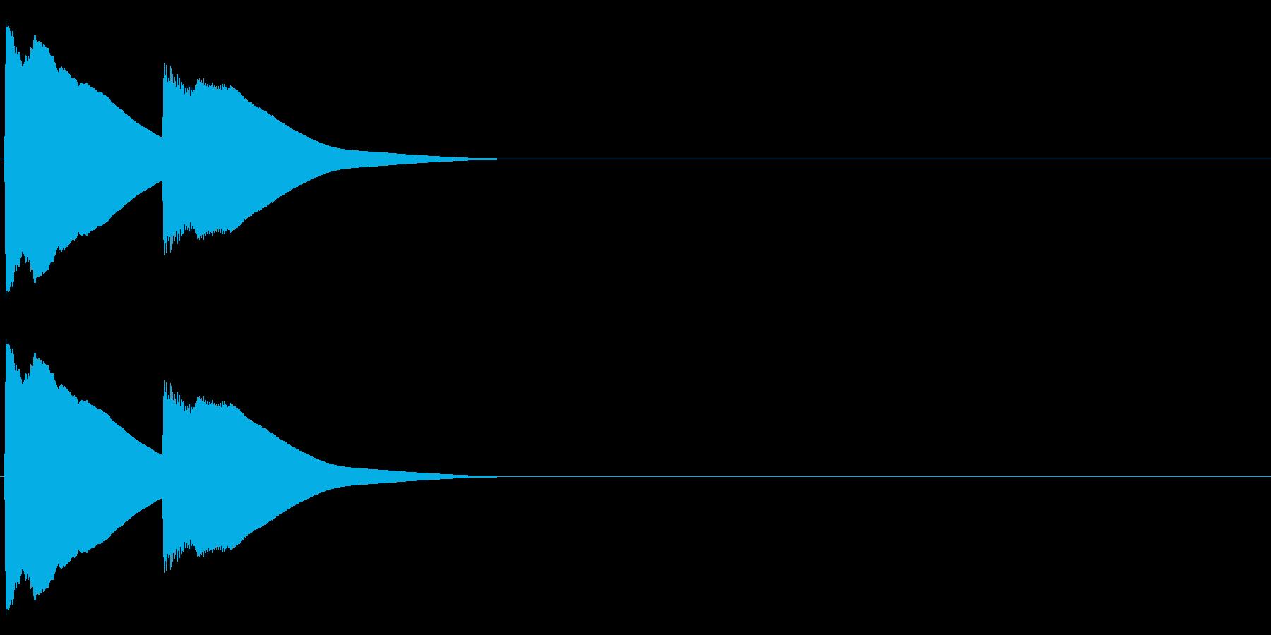 ピンポン(チャイム)の再生済みの波形