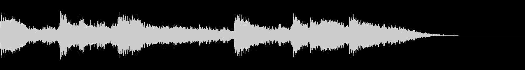 オーケストラによるゆったりとしたジングルの未再生の波形