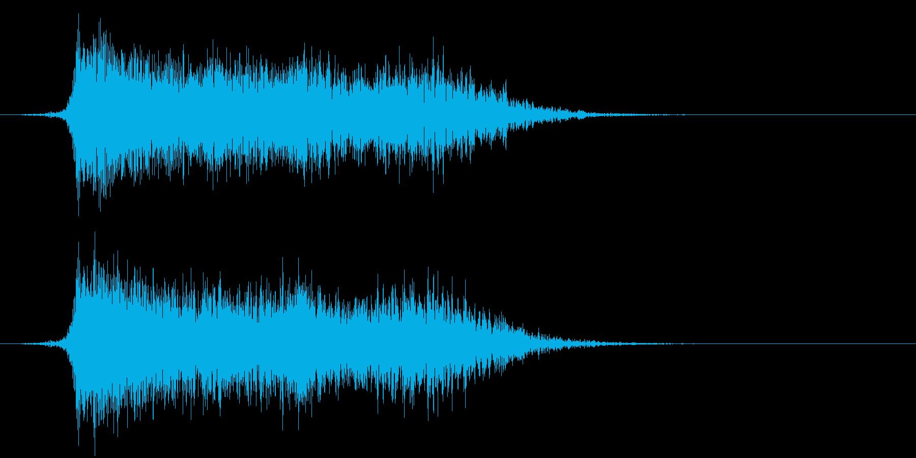 コミカルなダッシュ ジャンプ効果音10bの再生済みの波形