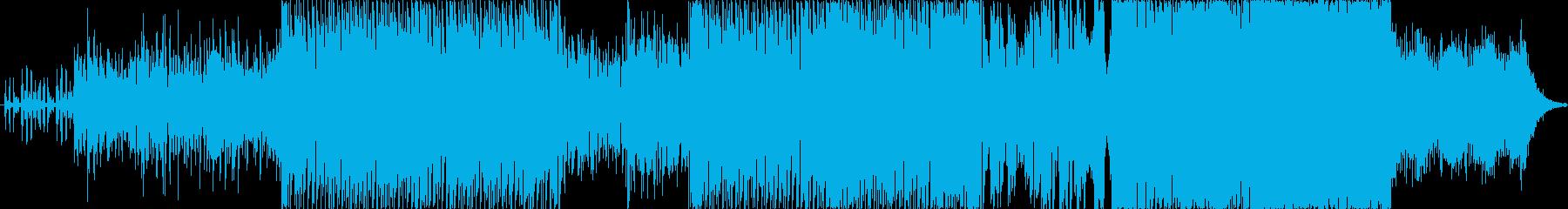 ハウスベースのEDM おしゃれな雰囲気の再生済みの波形
