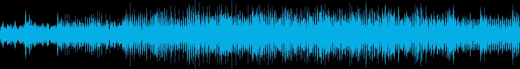 暗いループ仕様の楽曲の再生済みの波形