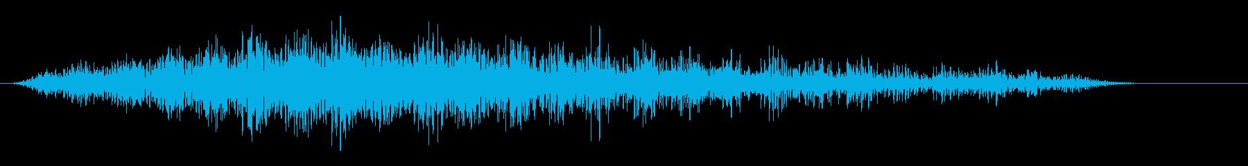 デジタルな起動音 近未来的な音の再生済みの波形