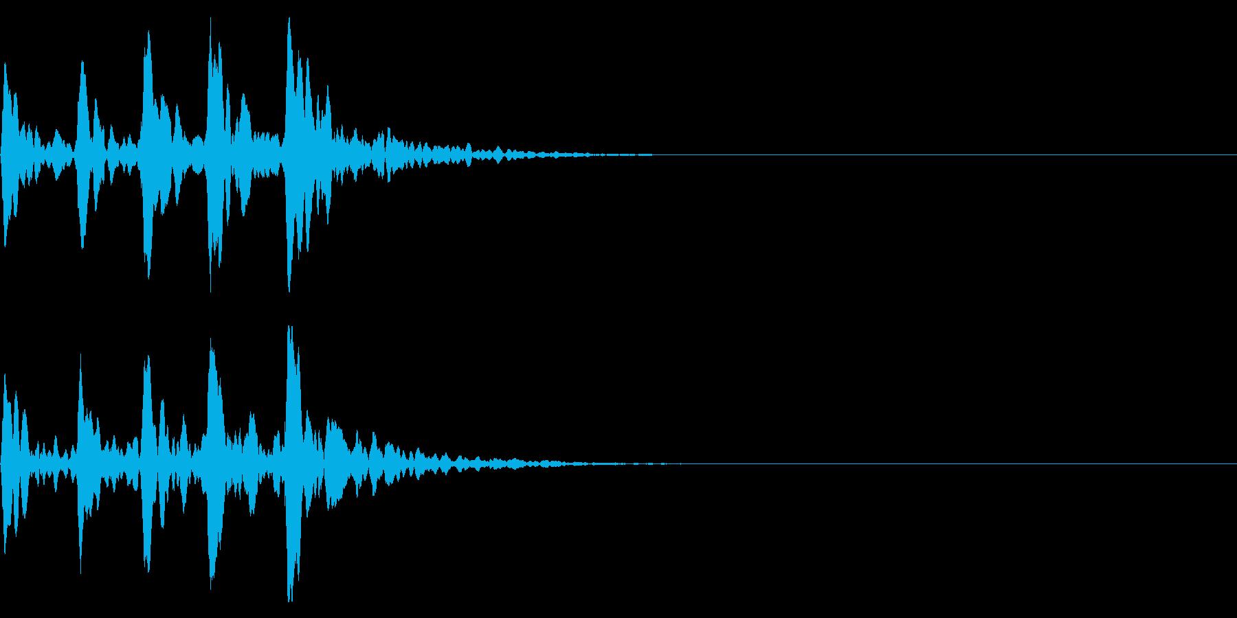 ポポポポポン!鼓の連打!エフェクト有の再生済みの波形