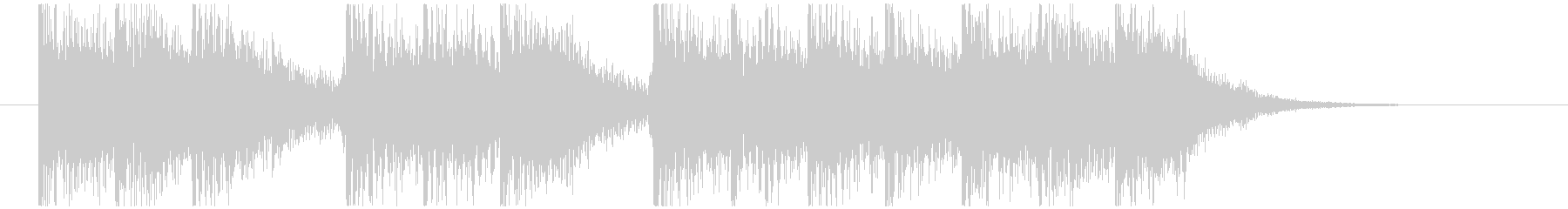 三三七拍子モチーフ力強い和風ジングル 1の未再生の波形
