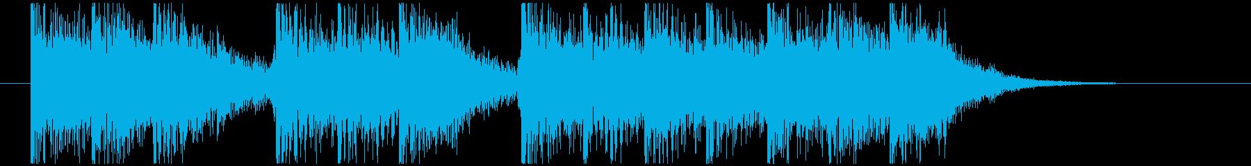 三三七拍子モチーフ力強い和風ジングル 1の再生済みの波形