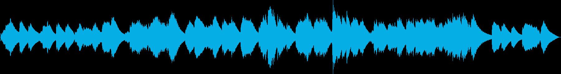 眠れない夜にソルフェジオ癒しのチェレスタの再生済みの波形