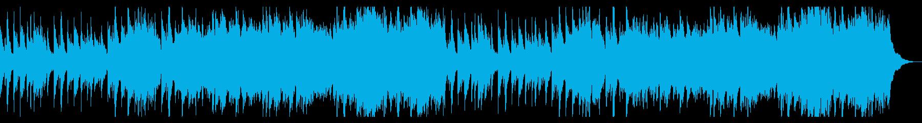 ハープが印象的なシャボン玉のような曲の再生済みの波形