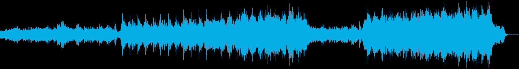 ドラムがかっこいい映画のトレーラー風の再生済みの波形