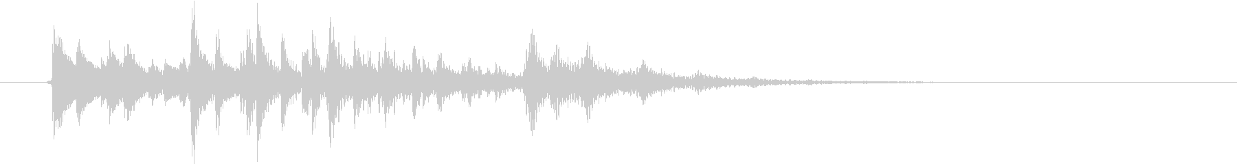 生演奏:ステレオディレイの和音ピチカートの未再生の波形