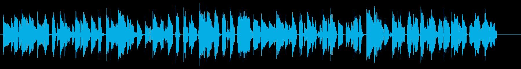 ほんわかした雰囲気のゲーム・映像向け音楽の再生済みの波形