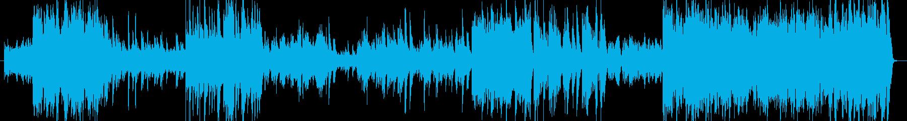 海に流れゆく川のドラマを表現したピアノ曲の再生済みの波形