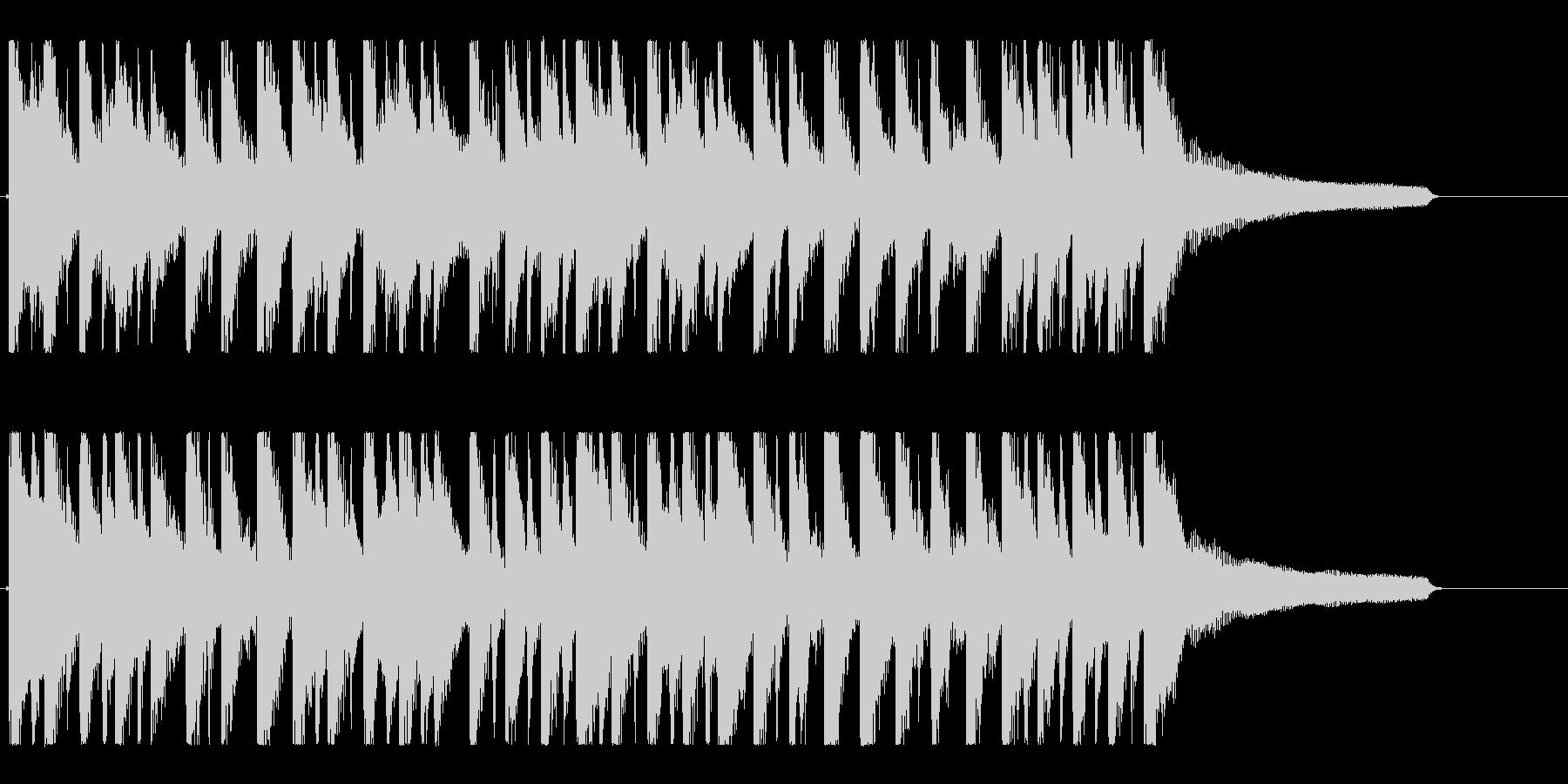 ハッピー&ポップなアコースティックロゴの未再生の波形