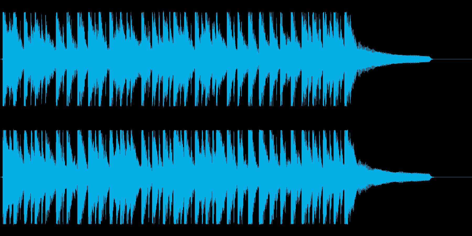 ハッピー&ポップなアコースティックロゴの再生済みの波形