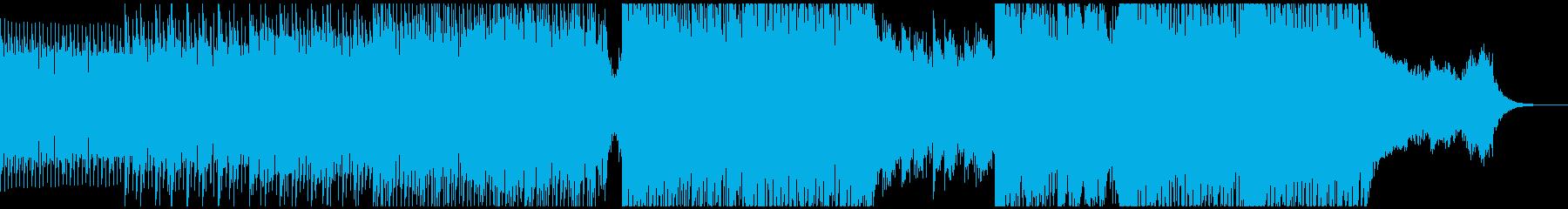 徐々に盛り上がるステディでポップなEDMの再生済みの波形