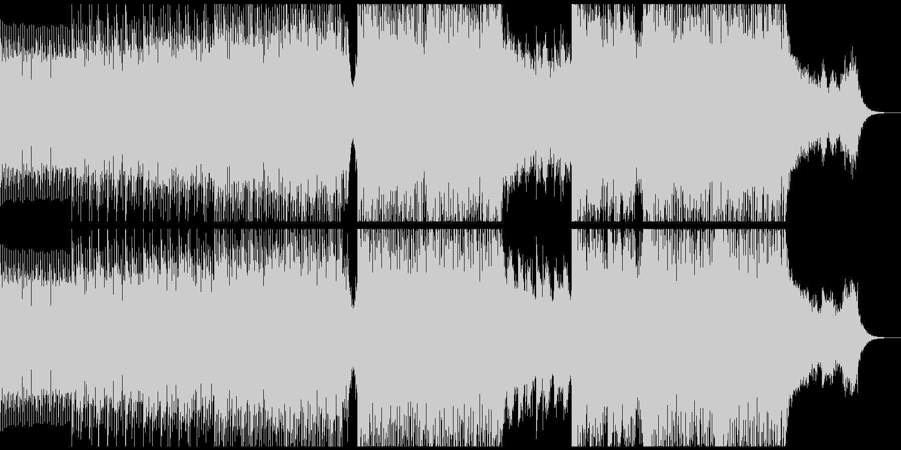 徐々に盛り上がるステディでポップなEDMの未再生の波形