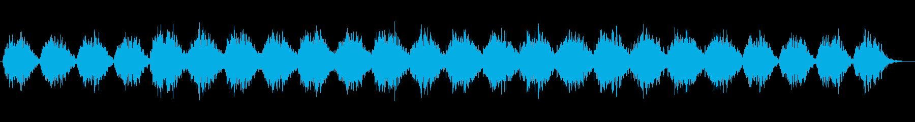 切なさや儚さを感じるアンビエントな曲の再生済みの波形