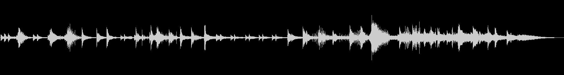 フリーテンポの落ち着いたピアノ曲の未再生の波形