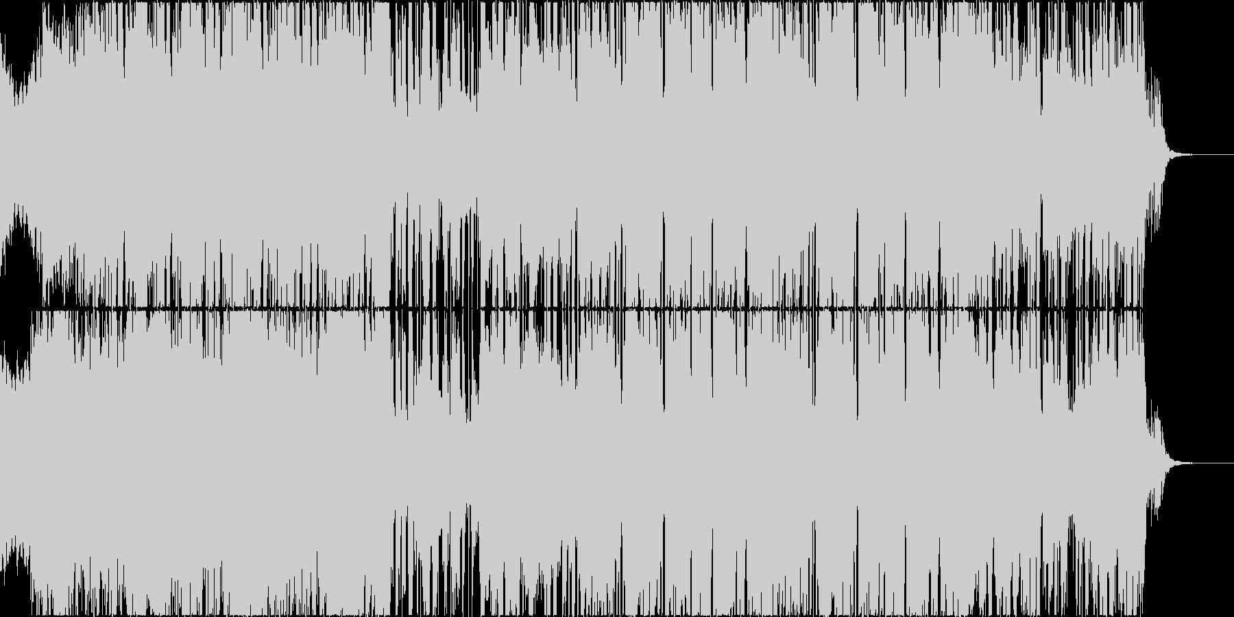 サックスとトラップのビートが印象的な楽曲の未再生の波形