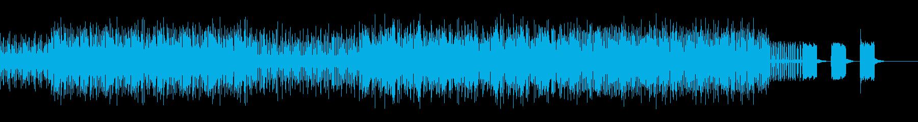 混沌としたブレイクビーツの再生済みの波形