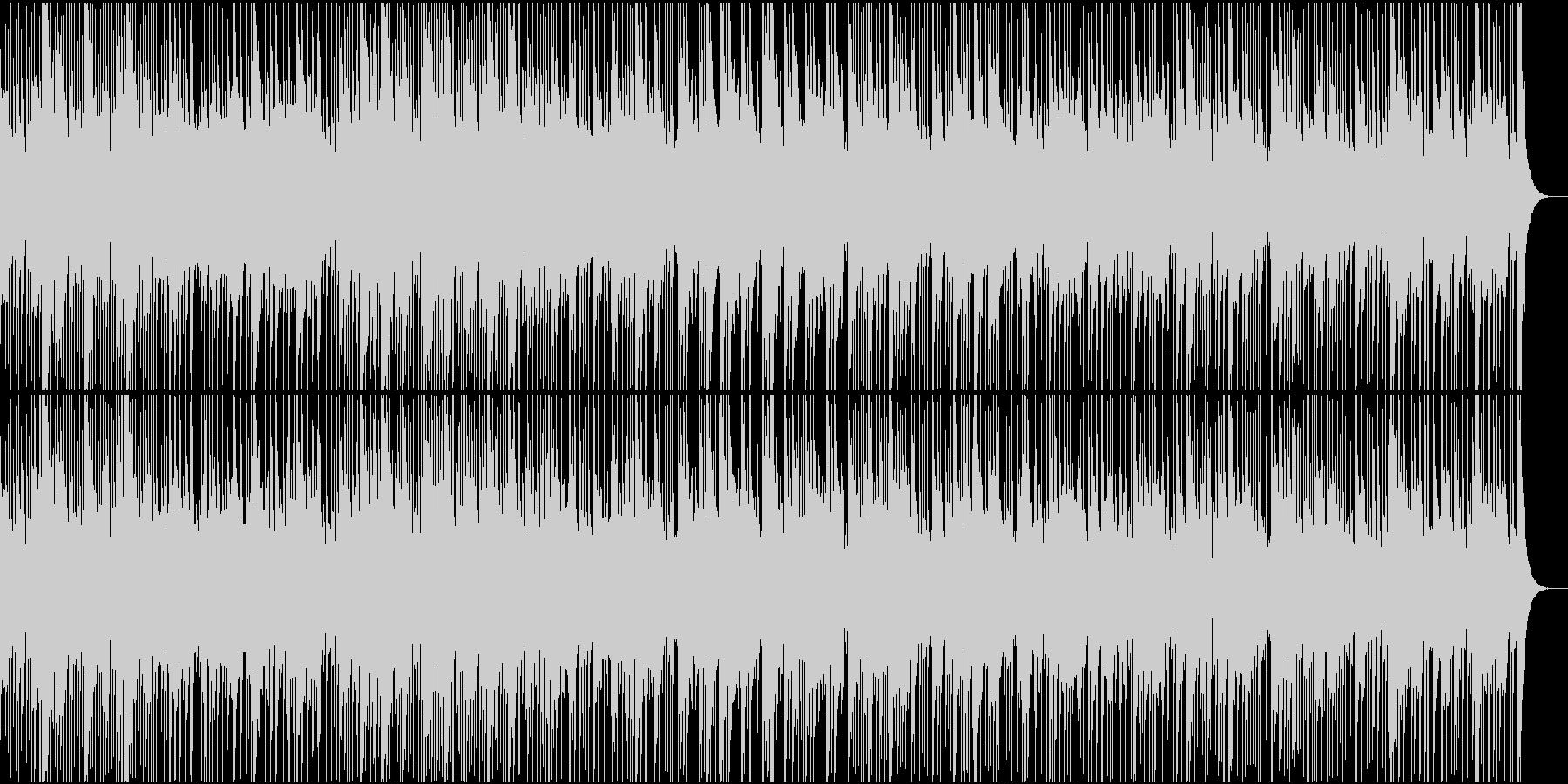 南国の番組にぴったりなカリンバの民族音楽の未再生の波形