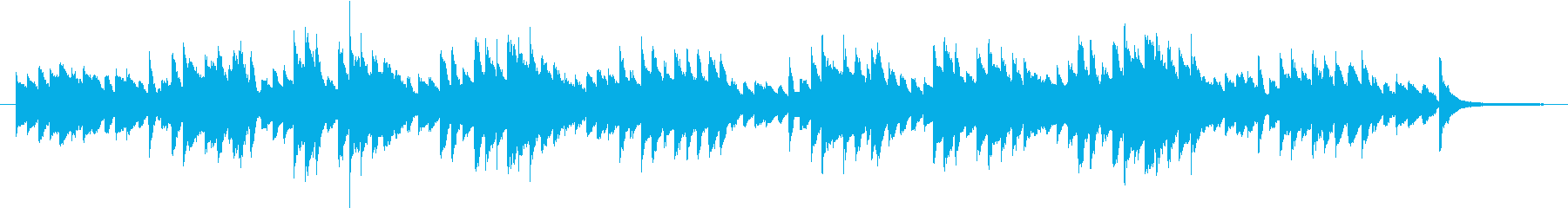 English folk song simple piano accompaniment's reproduced waveform