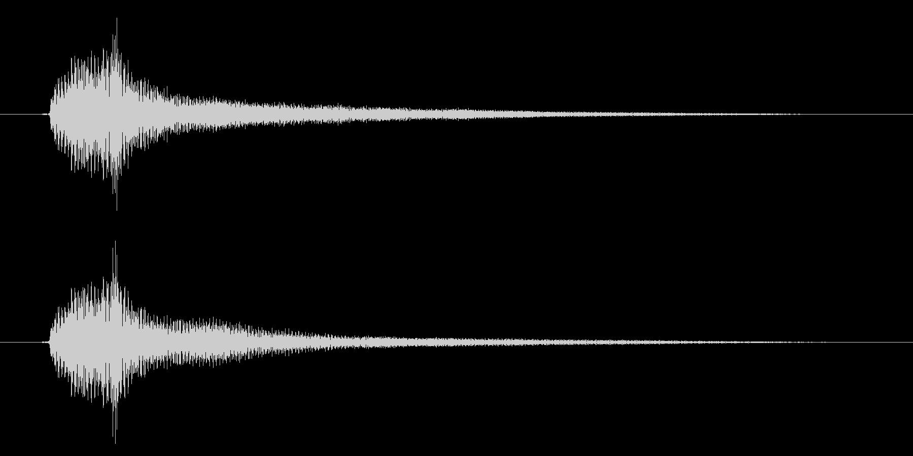 アコギのハーモニクス/  ポーンの未再生の波形