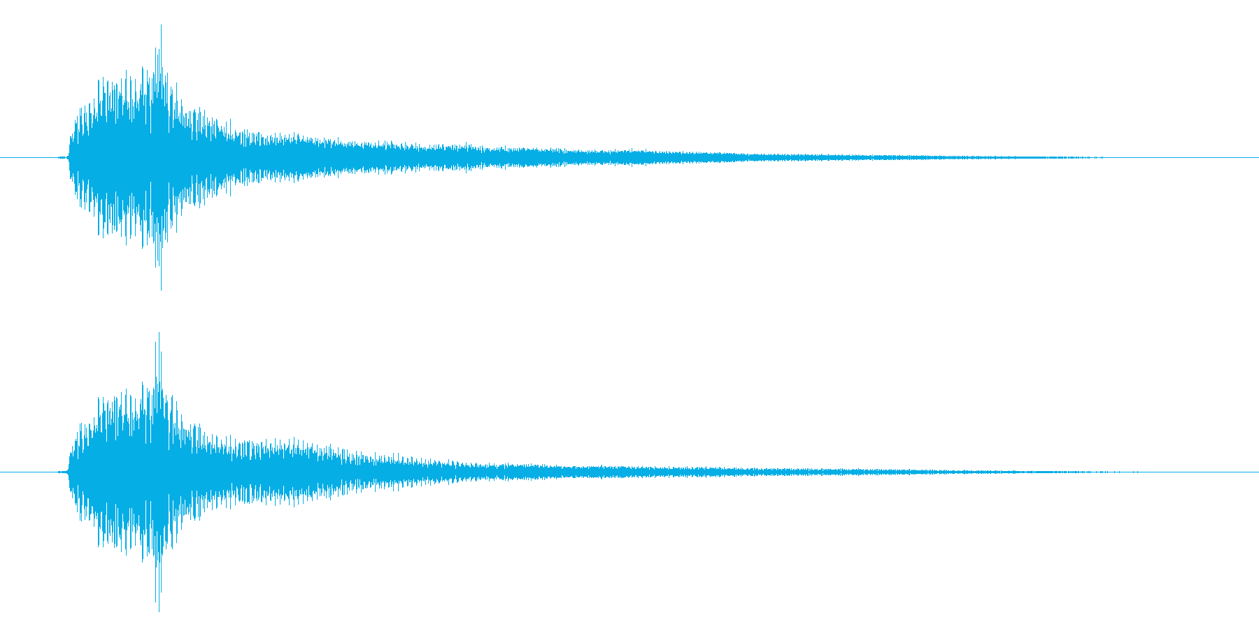 アコギのハーモニクス/  ポーンの再生済みの波形