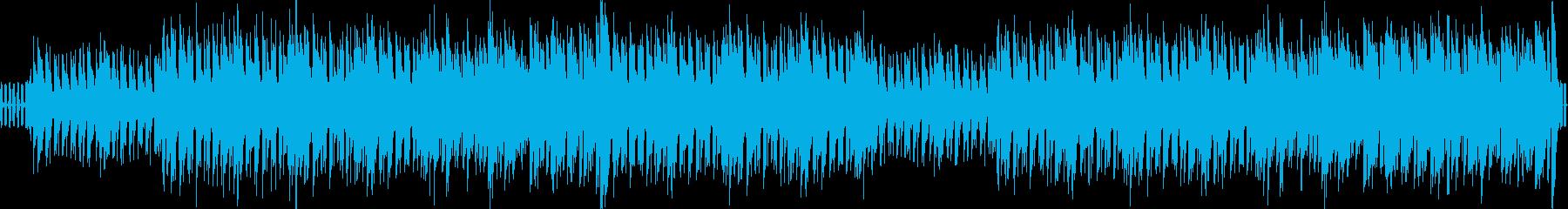 リズミカルで陽気なBGMの再生済みの波形