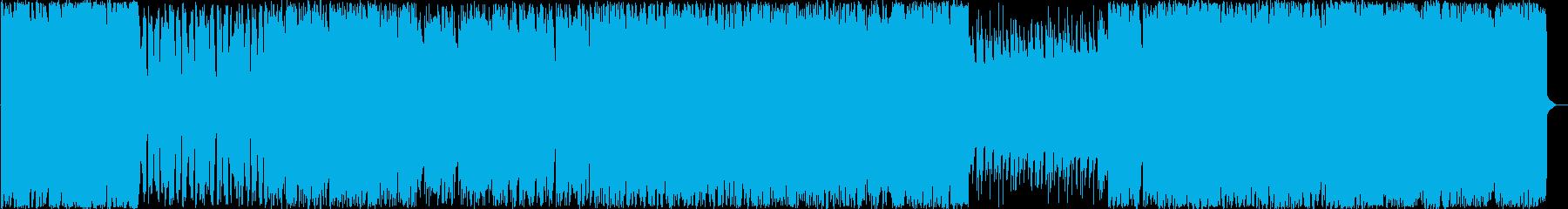 シューティングゲームな軽快チップチューンの再生済みの波形