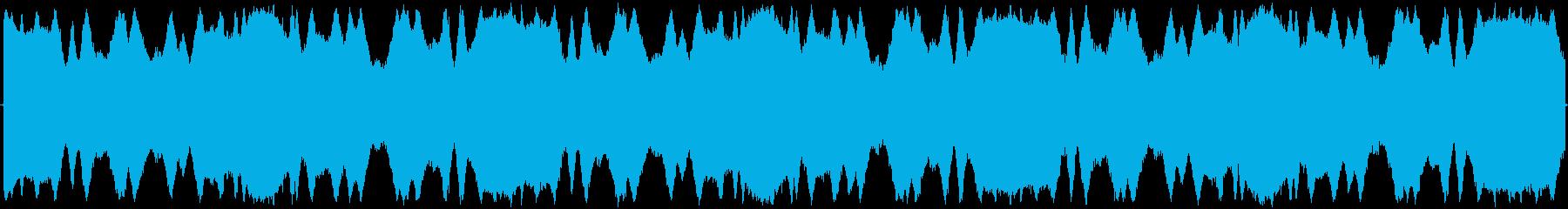 パトカーのサイレンの再生済みの波形