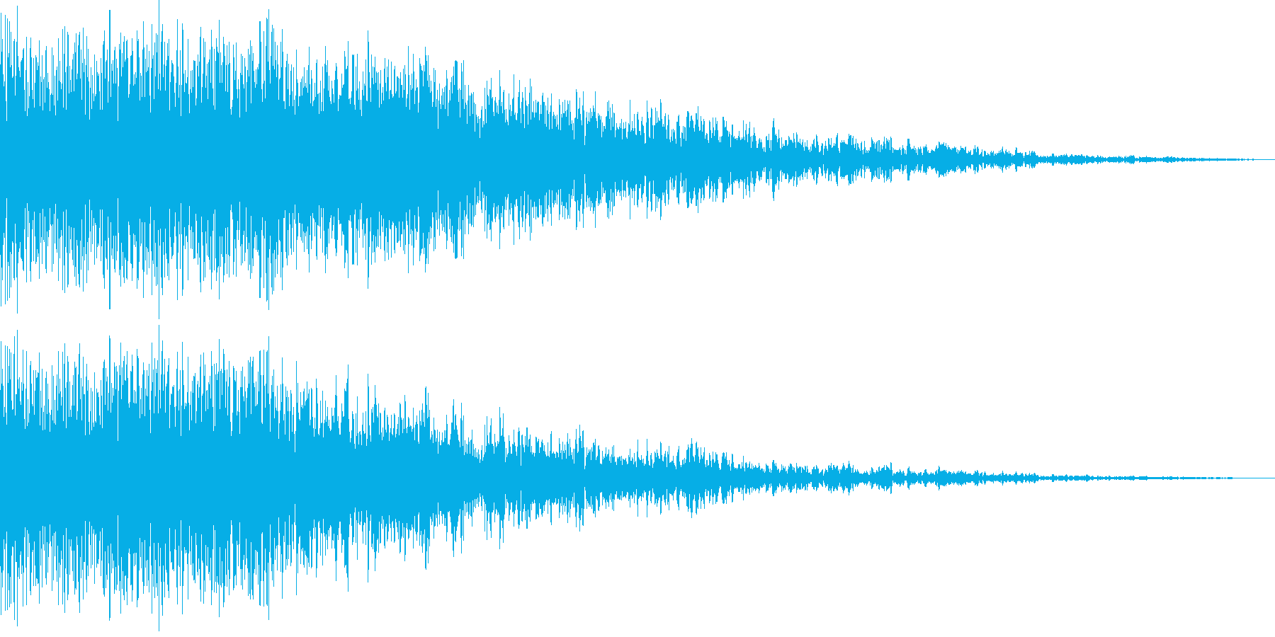 垂直噴射(垂直離着陸の表現に使える)の再生済みの波形