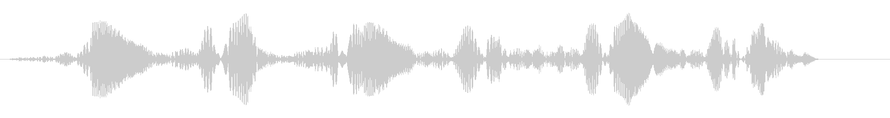 ポワポワポワポワポワポワ(上昇音)の未再生の波形
