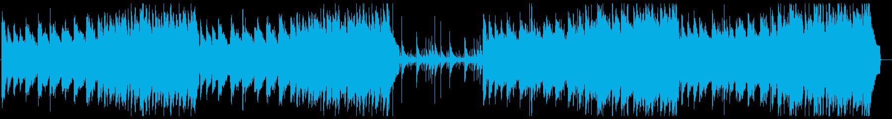 もの悲しいシネマティックピアノBGMの再生済みの波形