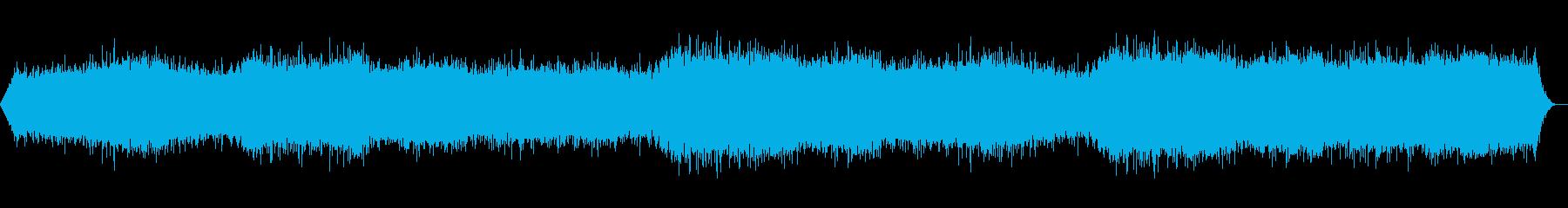 強い風:一定の重いHE音、天気の風の再生済みの波形