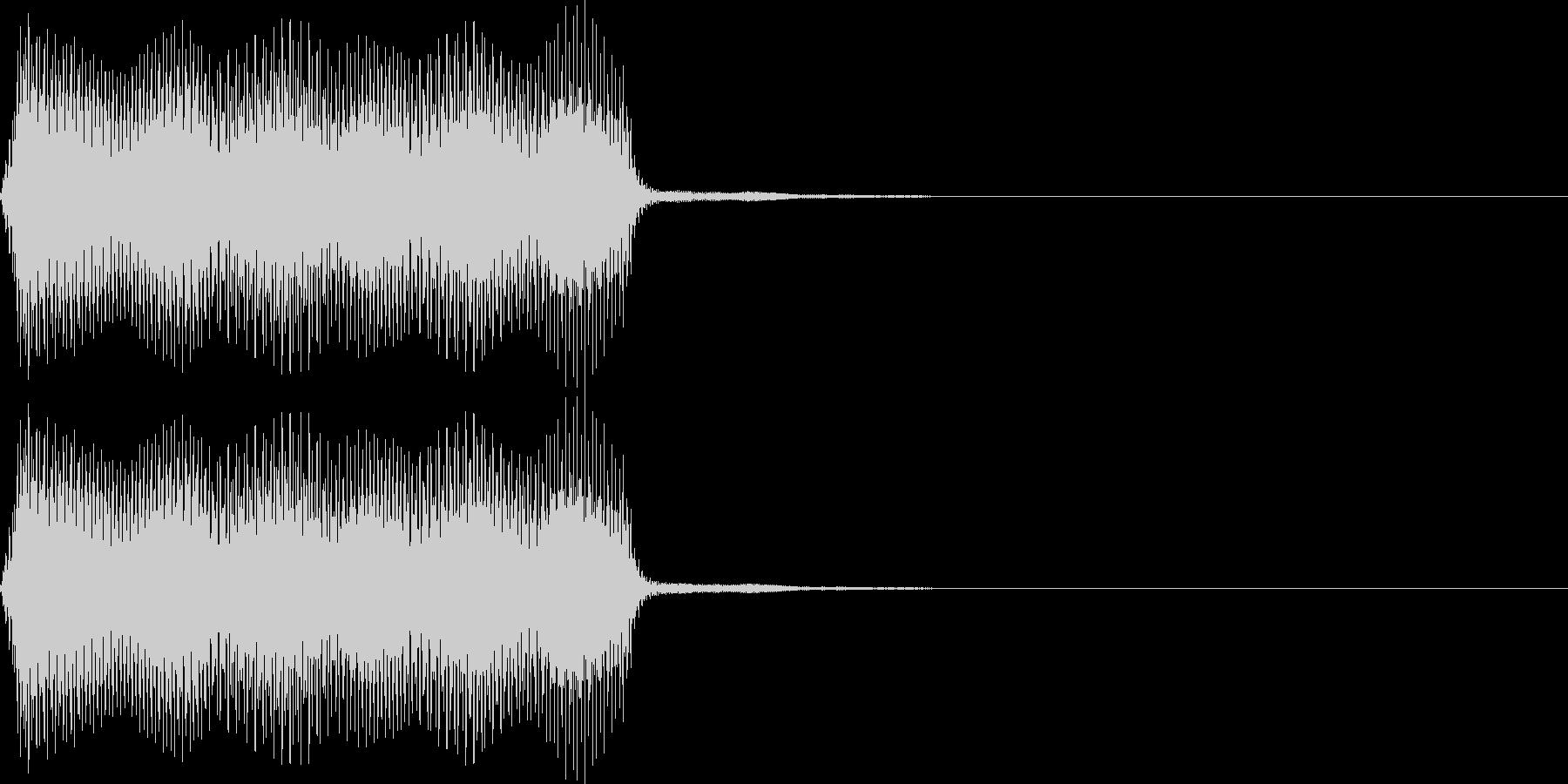 ポー。蒸気機関車の汽笛(低)の未再生の波形