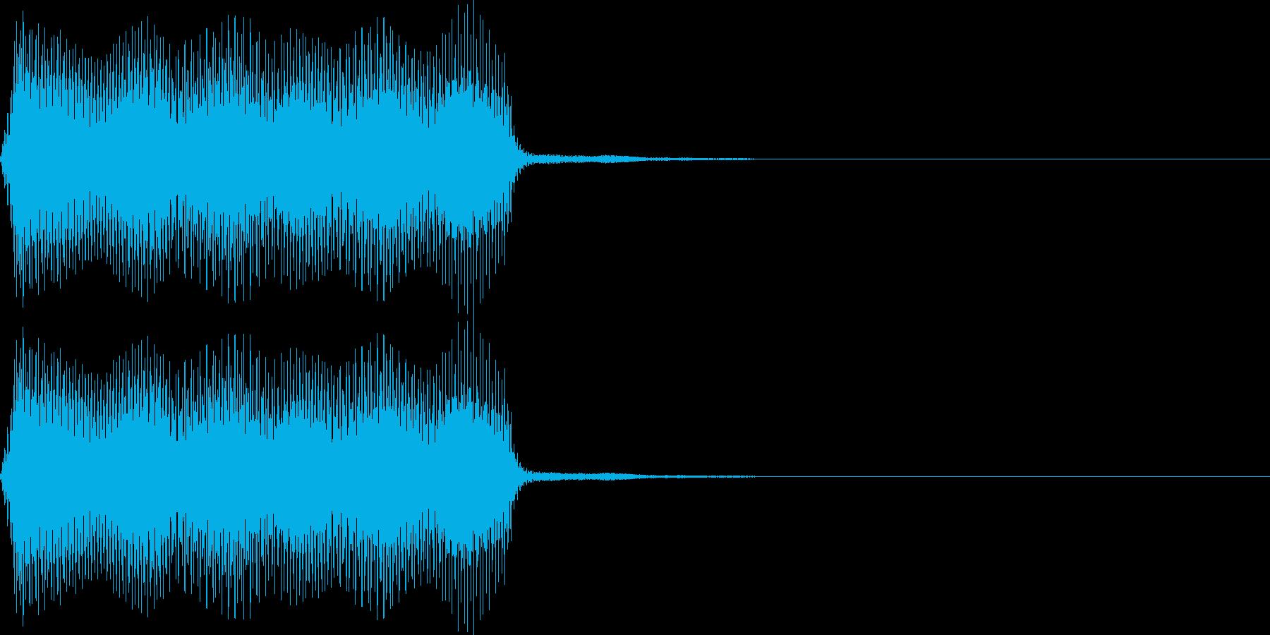 ポー。蒸気機関車の汽笛(低)の再生済みの波形