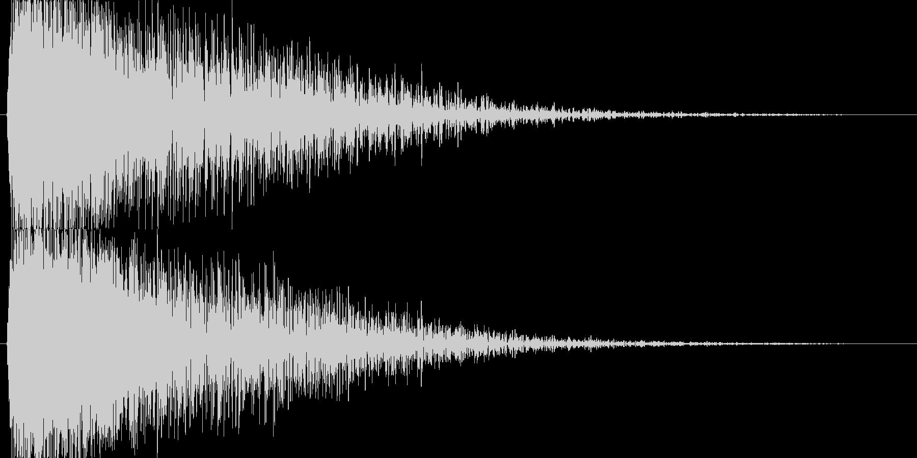【SE】爆発音03(大)の未再生の波形