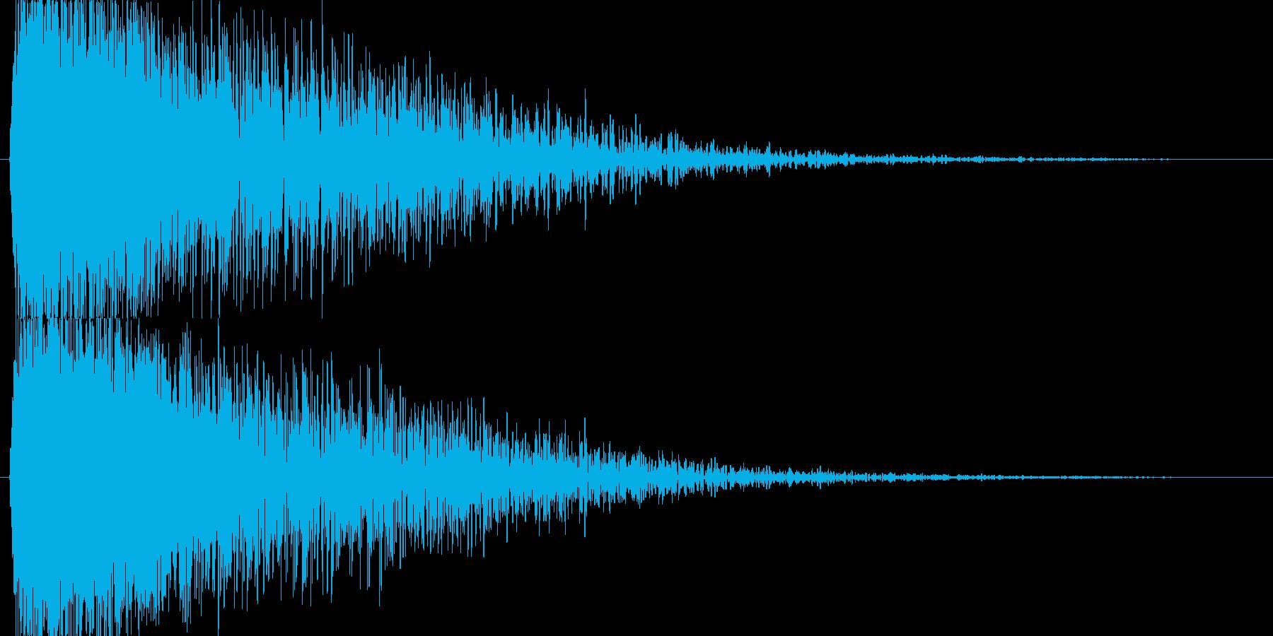 【SE】爆発音03(大)の再生済みの波形