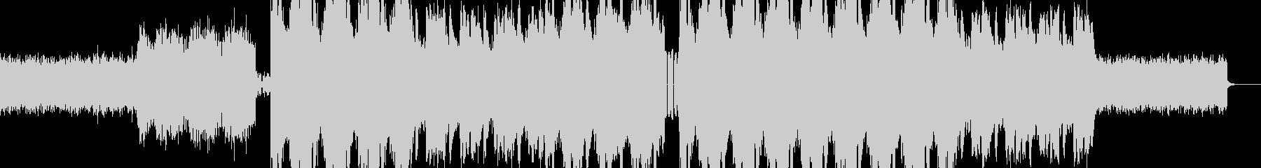 電子音をイメージした楽曲。の未再生の波形