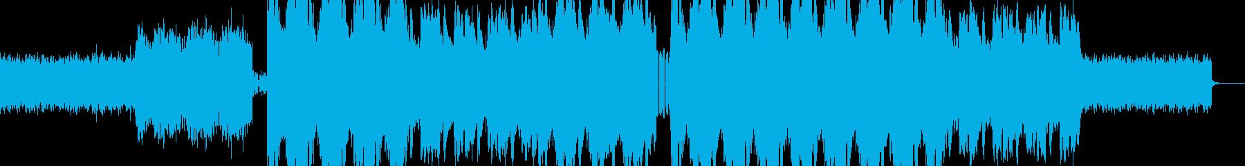 電子音をイメージした楽曲。の再生済みの波形