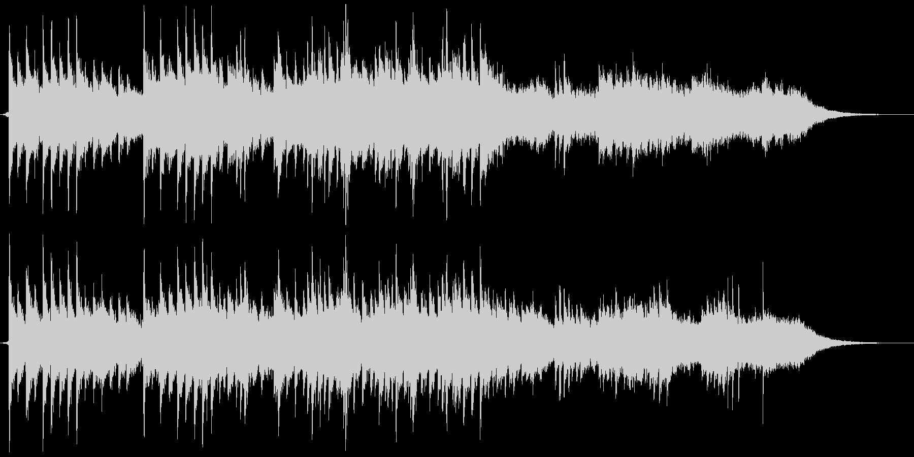 ふんわりシンセとピアノの優しいバラードの未再生の波形
