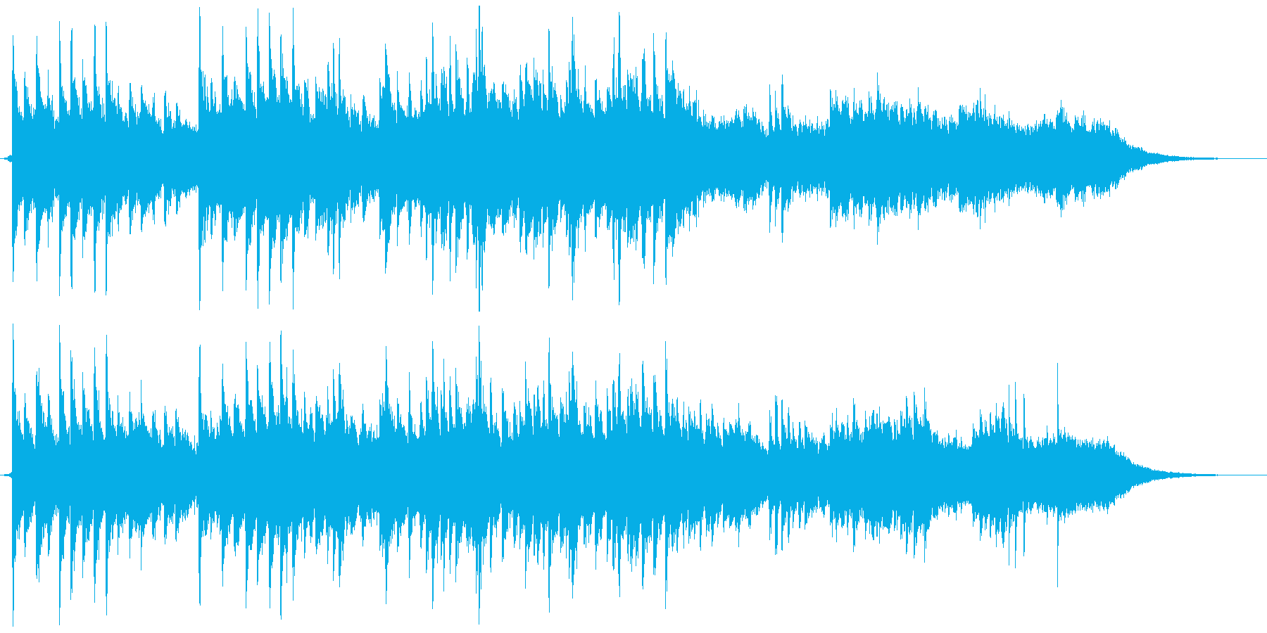 ふんわりシンセとピアノの優しいバラードの再生済みの波形