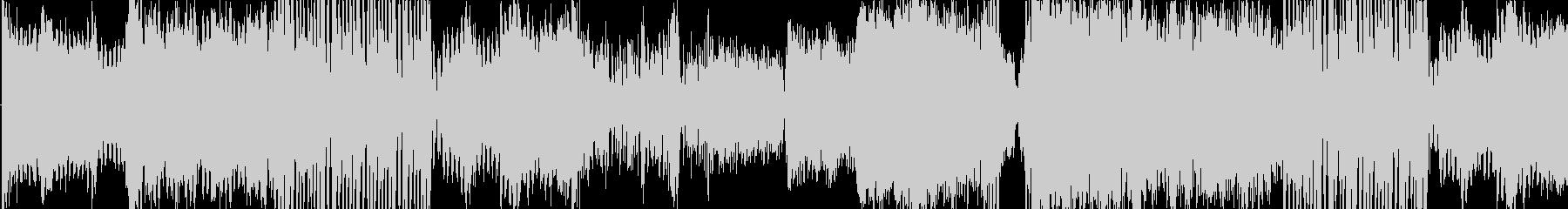 緊迫、壮大、機械なシネマテッィク曲の未再生の波形