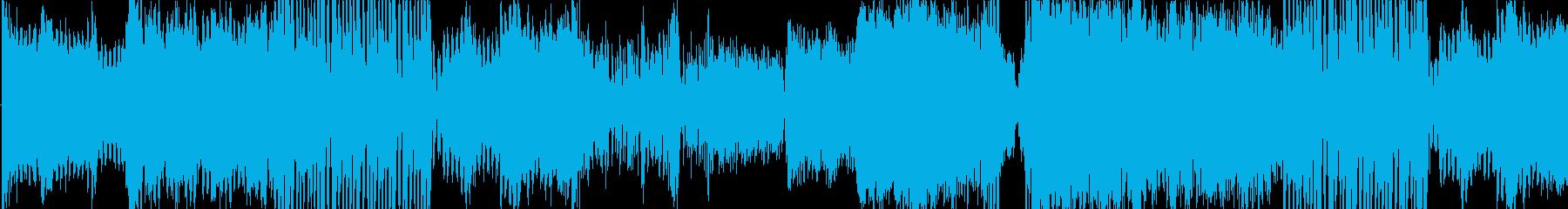 緊迫、壮大、機械なシネマテッィク曲の再生済みの波形