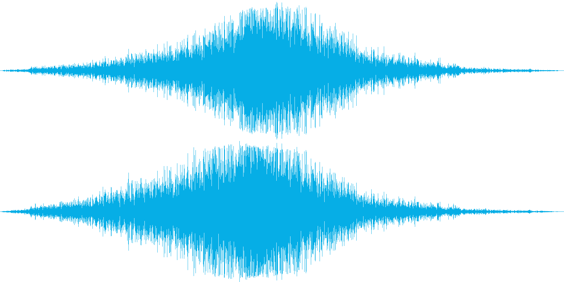 旅客機が滑走路から離陸(助走部分から)の再生済みの波形