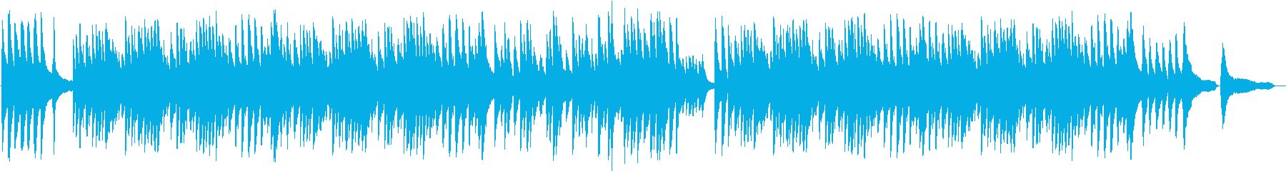 美しい和風ピアノバラードBGMの再生済みの波形