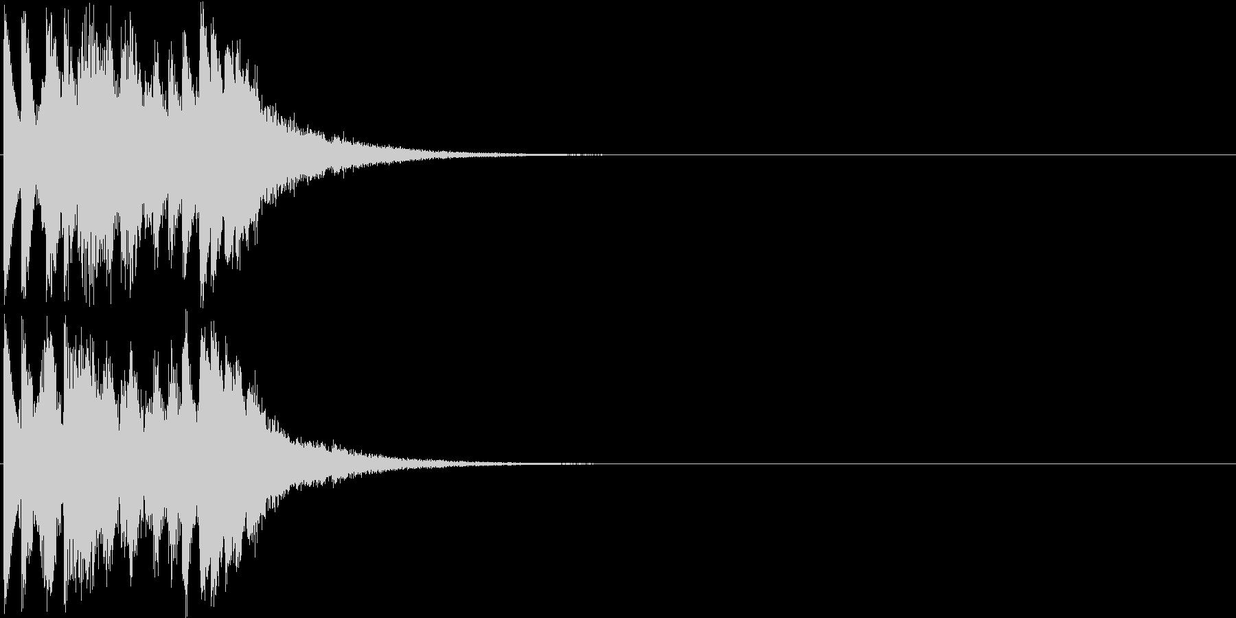 キララララララン(キラキラ系装飾音)の未再生の波形