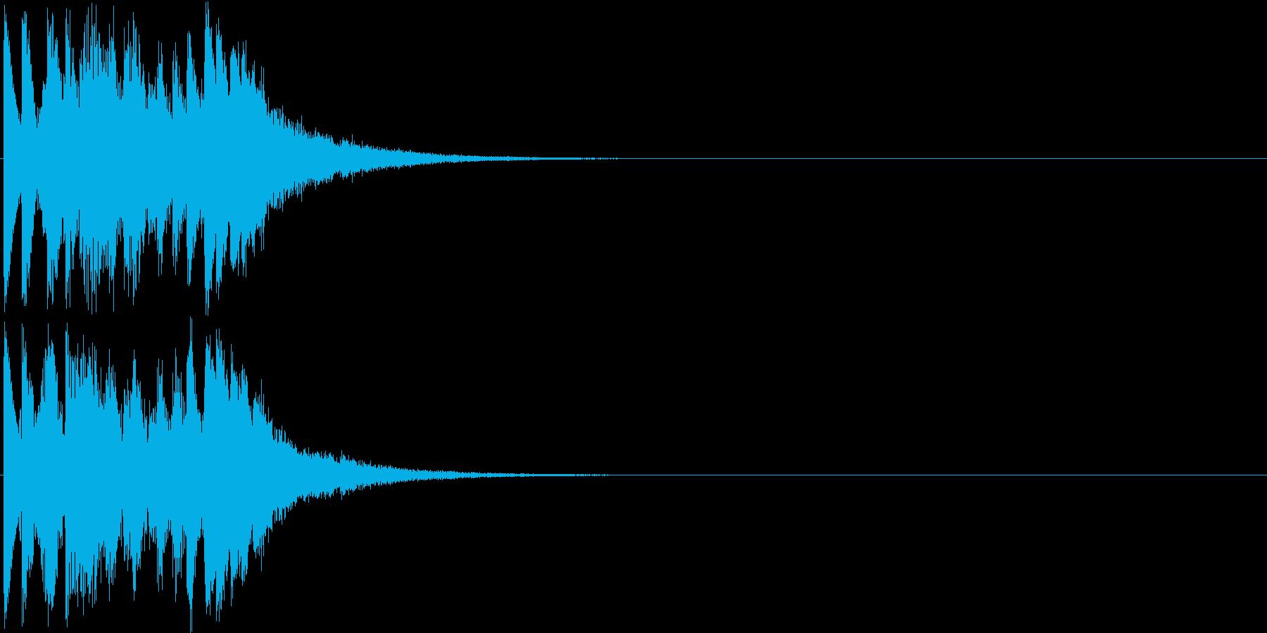 キララララララン(キラキラ系装飾音)の再生済みの波形