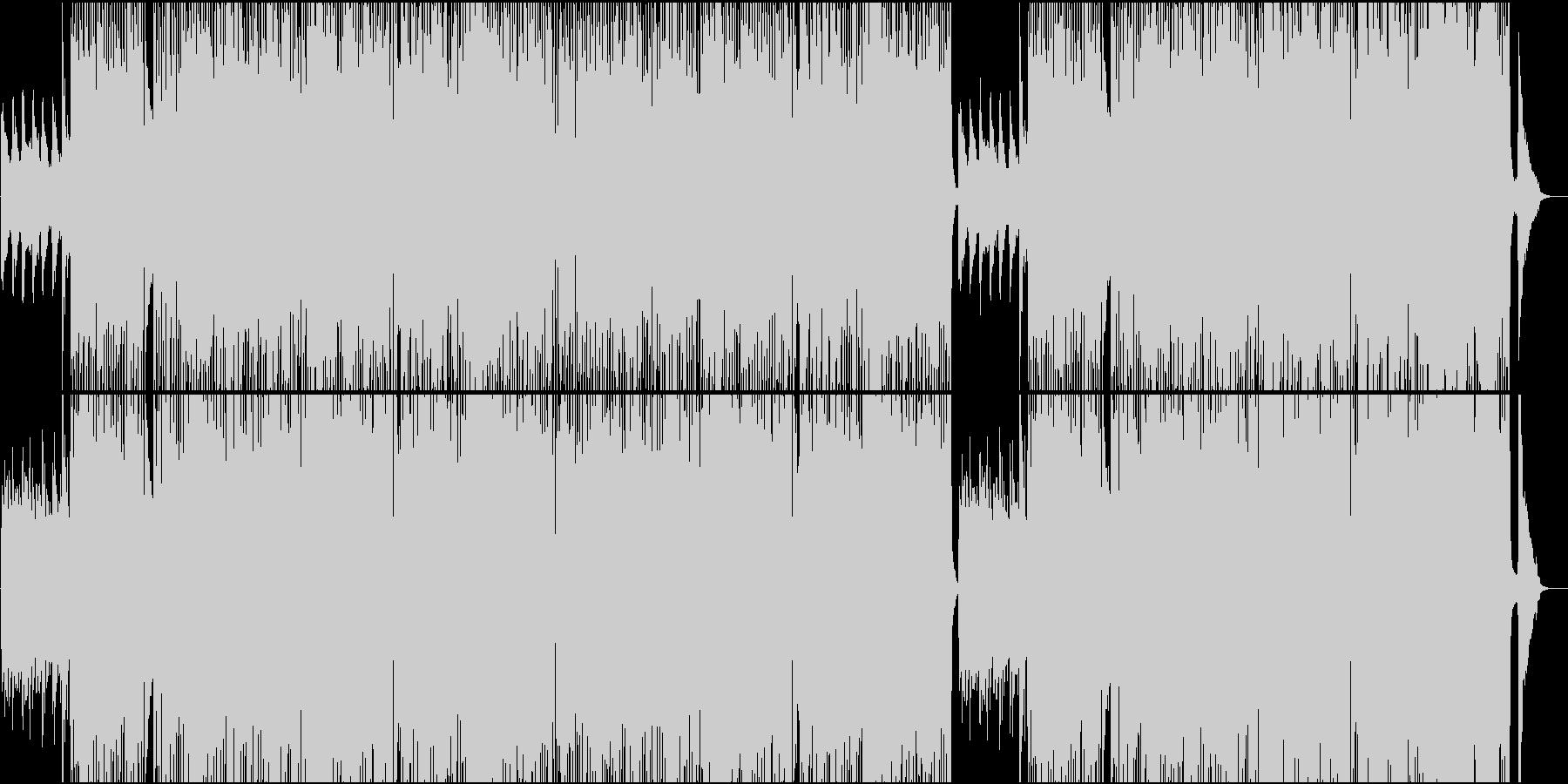 グロッケンと木琴のメロが可愛い軽快な楽曲の未再生の波形