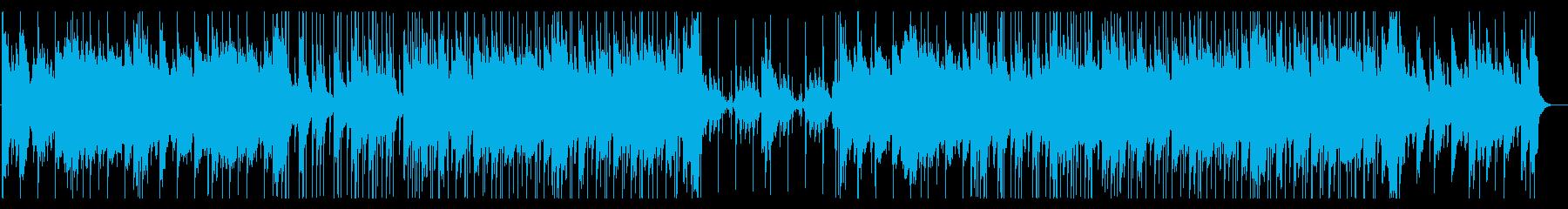 切ない幻想的なピアノとストリングスの曲の再生済みの波形